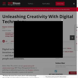 Unleashing Creativity With Digital Technology
