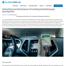 Unleashing essential feature creating taxi booking app development -Miami
