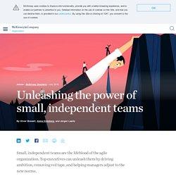 Unleashing the power of agile teams