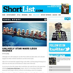 Unlikely Star Wars LEGO Scenes - Cool Stuff