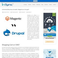 Unlimited Business Growth: Magento or Drupal, Magento v/s Drupal