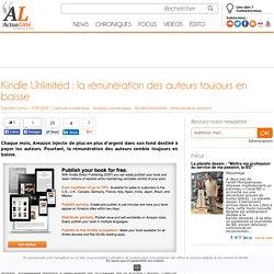 Kindle Unlimited : la rémunération des auteurs toujours en baisse
