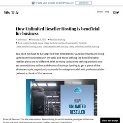 How Unlimited Reseller Hosting is beneficial for business – Site Title