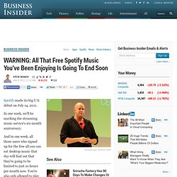 Spotify Unlimited Streaming Ends For Some Free Users