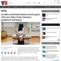 Scribd's unlimited ebook service gets 15K new titles from romance publisher Harlequin