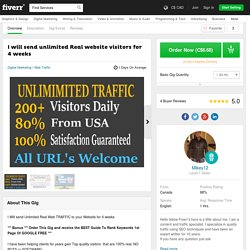 Unlimited Real website visitors