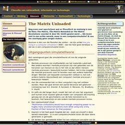 The Matrix Unloaded [Ger de Gooijer : De Ratioclub - Glossen]