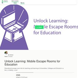 Unlock Learning: Mobile Escape Rooms for Education by Andrew Walsh