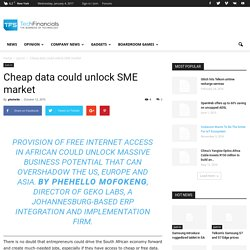 Cheap data could unlock SME market