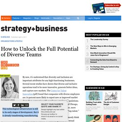 How to Unlock the Full Potential of Diverse Teams