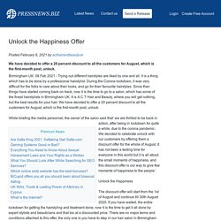 Unlock the Happiness Offer