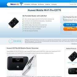 Huawei Mobile Wi-Fi Pro E5770s-320 4G Router Free Shipping