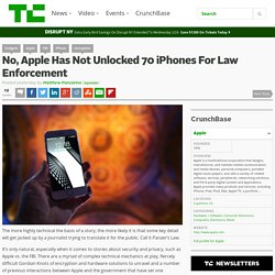 No, Apple Has Not Unlocked 70 iPhones For Law Enforcement