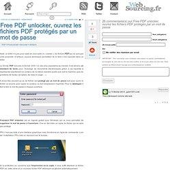 Free PDF unlocker, ouvrez les fichiers PDF protégés par un mot de passe