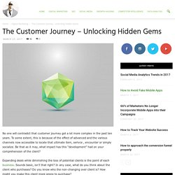 The Customer Journey – Unlocking Hidden Gems - Ade Camilleri Marketing News