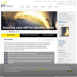 EY Unlocking value with an effective operating model