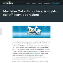 Machine Data: Unlocking insights for efficient operations - Motadata