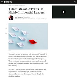 7 Unmistakable Traits Of Highly Influential Leaders
