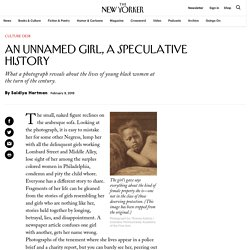 An Unnamed Girl, a Speculative History