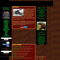 The Museum of Unnatural Mystery Homepage