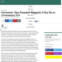 Homework: New Research Suggests It May Be an Unnecessary Evil