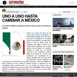 uno a uno hasta cambiar a México