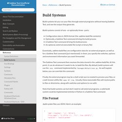 Build Systems — Sublime Text Unofficial Documentation