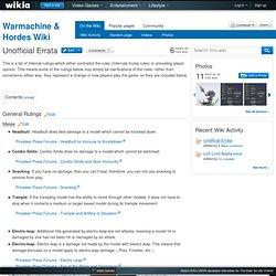 Unofficial Errata - Warmachine & Hordes Wiki
