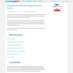 The (Very) Unofficial Facebook Privacy Guide [DOWNLOAD]