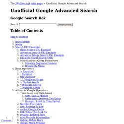 Unofficial Google Advanced Search