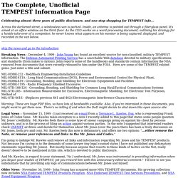 The Complete, Unofficial TEMPEST Information Page