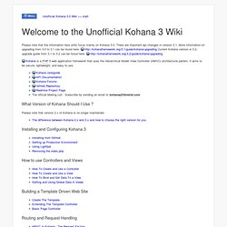 Unofficial Kohana 3.0 Wiki >> start