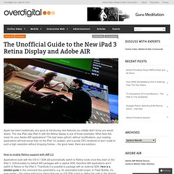 The Unofficial Guide to the New iPad 3 Retina Display and Adobe AIR