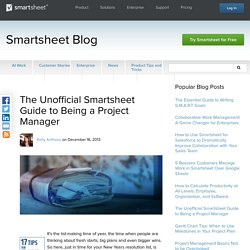 The Unofficial Smartsheet Guide to Being a Project Manager