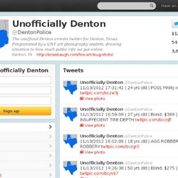 Unofficially Denton (DentonPolice) on Twitter