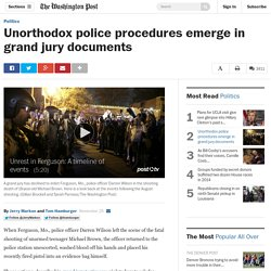 Unorthodox police procedures emerge in grand jury documents