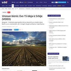 Unosan biznis: Evo 15 ideja iz Srbije (VIDEO) - B92.net