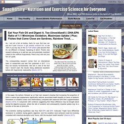 Plus: Fishes that Come Close are Sardines, Rainbow Trout, ... - SuppVersity: Nutrition and Exercise Science for Everyone