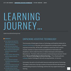 Unpacking Assistive Technology – Learning Journey…