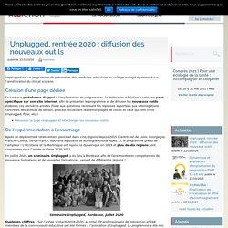 Unplugged, rentrée 2020 : diffusion des nouveaux outils / Fédération des addictions, octobre 2020