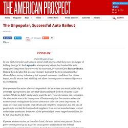 The Unpopular, Successful Auto Bailout