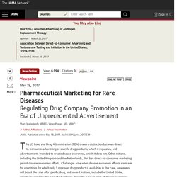 Regulating Drug Company Promotion in an Era of Unprecedented Advertisement