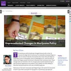 Unprecedented Changes in Marijuana Policy