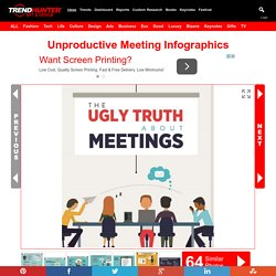 Unproductive Meeting Infographics : office Meetings