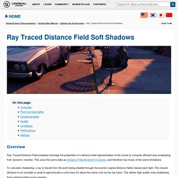 Ray Traced Distance Field Soft Shadows