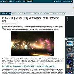 L'Unreal Engine 4 et Unity 5 ont fait leur entrée lors de la GDC // 20 mars 2015