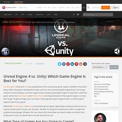 Comparaison entre Unity et Unreal : quel moteur est adapté à tes besoins ?