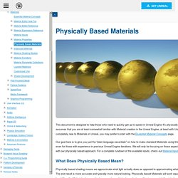 Physically Based Materials