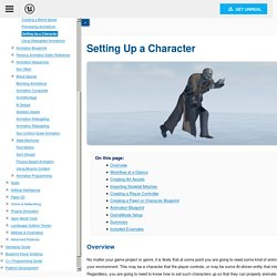 Setting Up a Character