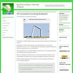 The Unromantic Green Energy Reading List